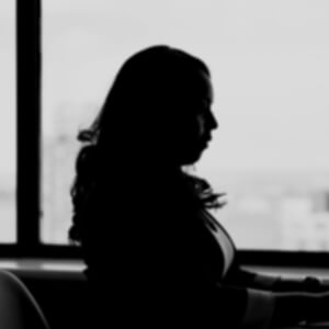 Shadow of unidentified women.